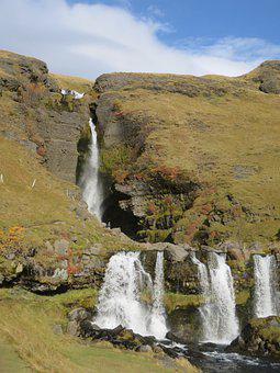 Iceland, Waterfall, Gluggafoss