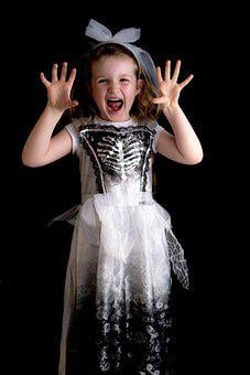 Girl, Child, Kid, Costume, Horror, Gothic, Model, Young