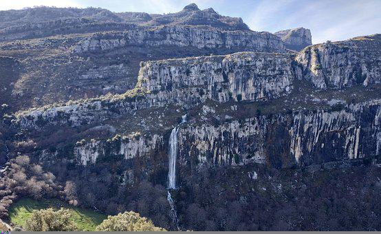 Ansó, Waterfall, Cantabria, Mountain, Nature, Landscape