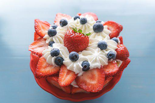 Cake, Dessert, Pastry, Strawberry Cake, Strawberries