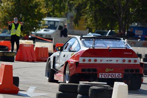 Car, Race Car, Race Track, Motorsport, Competition