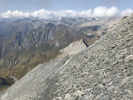 Towards The Pizzo Terri, Alpine Route, Alps, Alpine