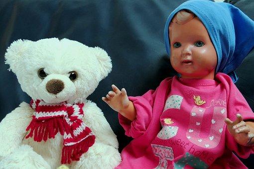 Bear, Doll, Toys, Teddy, Childhood, Teddy Bear