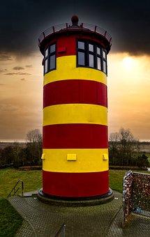 Lighthouse, Pilsum, East Frisia, North Sea, Sea
