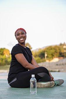 Woman, Smile, Fitness, Exercise, Sport, Yoga, Emotion