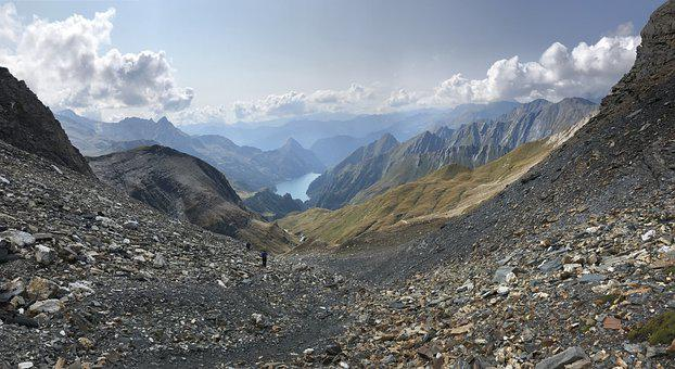 Panorama From Pizzo Terri, Lake Luzzone, Alpine Route