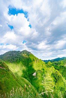 Mountain, Winding Road, Feng Gao, Summit, Hills