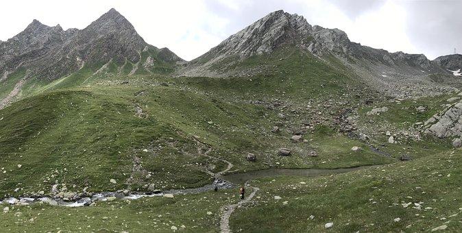 Mountains, Trail, Peak, Summit, Rocky Mountain