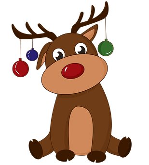 Deer, Swag, Ornaments, New Year's Eve, Christmas