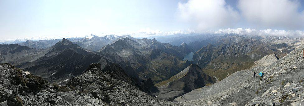 Panorama From Pizzo Terri, Alpine Route, Alps, Alpine