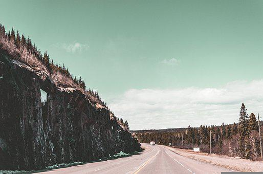 Mountains, Hills, Road, Highway, Outdoor, Road Trip