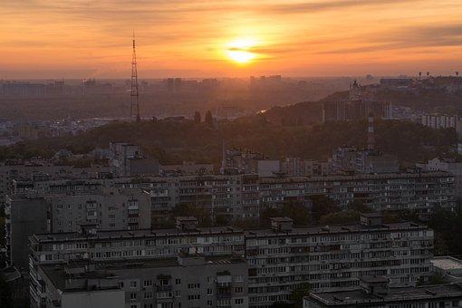 Roof, Kyiv, Sunrise