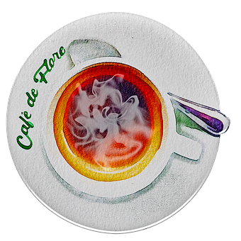 Watercolor Coffee, French Coffee, Cafe De Flore, Cafe