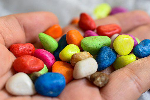 Beautiful Colorful Rocks, Rocks, Candy, Colorful