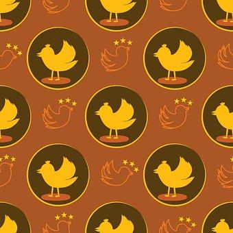 Birds, Pattern, Wallpaper, Background, Lovebirds