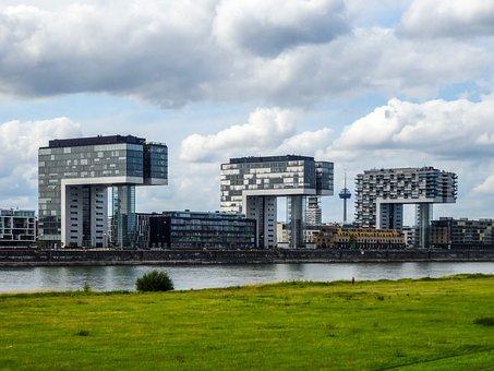 Köln, Cologne, Kranhaus, Kranhäuser, Crane Houses