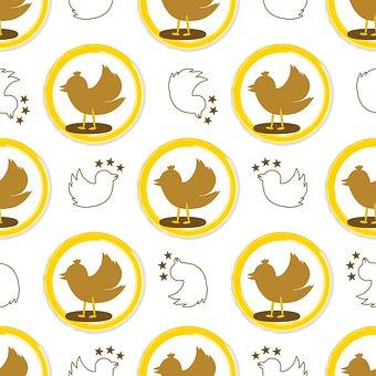 Birds, Pattern, Wallpaper, Lovebirds, Fortune, Luck