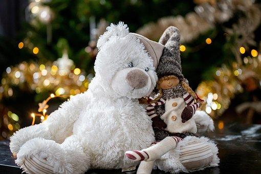 Bear, Stuffed Toy, Christmas, Christmas Bear, Plush Toy