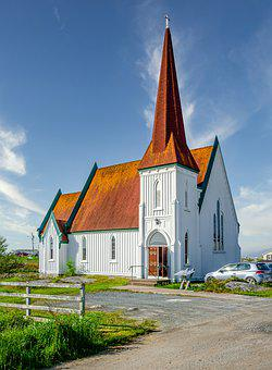Country Church, Wooden Church, Steeple, Architecture