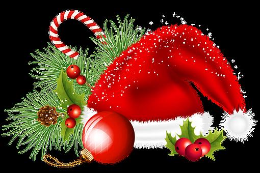 Christmas, Decoration, Santa Hat, Christmas Ball