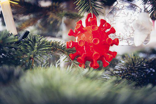 Christmas, Coronavirus, Ornament, Christmas Tree