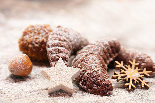 Christmas, Rolls, Pastry, Baked, Food, Snack, Sweets