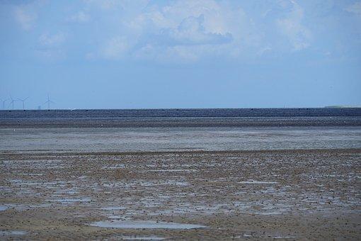 Ebb, Wadden Sea, Low Tide, North Sea, Tides