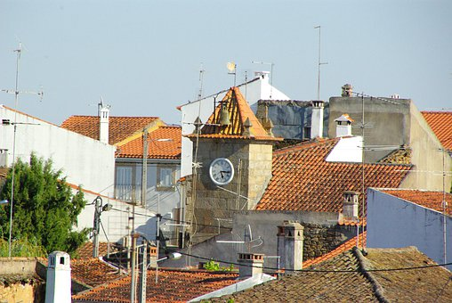 Roofs, Village, Portugal