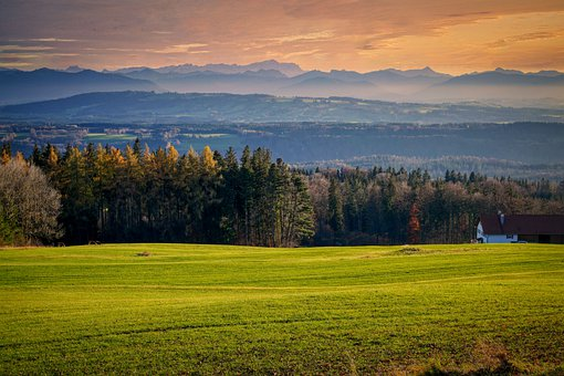 Valley, Alpine, Meadow, Fog, Mountain Ranges, Ridge