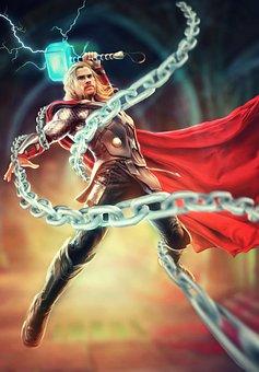 Thor, Character, Superhero, Male, Warrior, Mighty