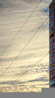 Wires, Sky, Electricity, Clouds, Freedom, Nature
