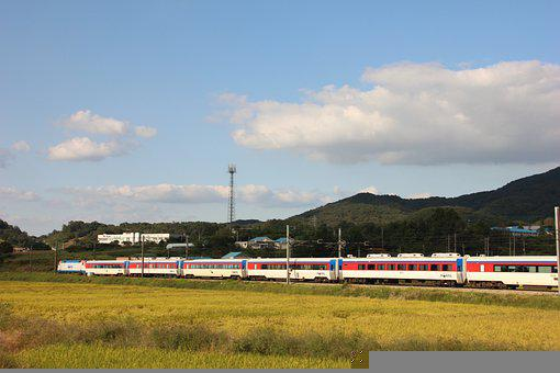 Train, Railway, Rural, Transportation, Transport
