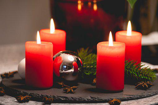 Advent Wreath, Candles, Christmas, Advent, Candlelight