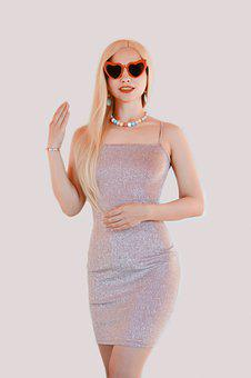 Woman, Barbie, Fashion, Dress, Baby Doll, Blonde, Style
