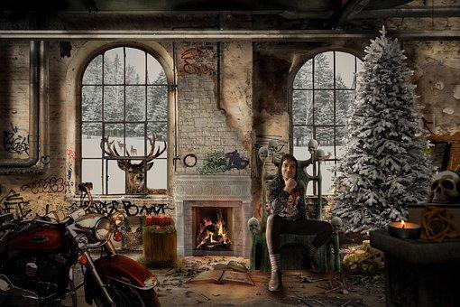 Merry Christmas, Christmas Covid, Christmas House