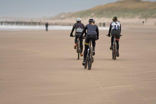 Bicycle, Cycling, Beach, Sand, Coast, Seashore