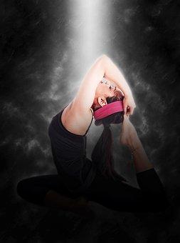 Gymnastics, Woman, Young, Girl, Yoga, Fitness