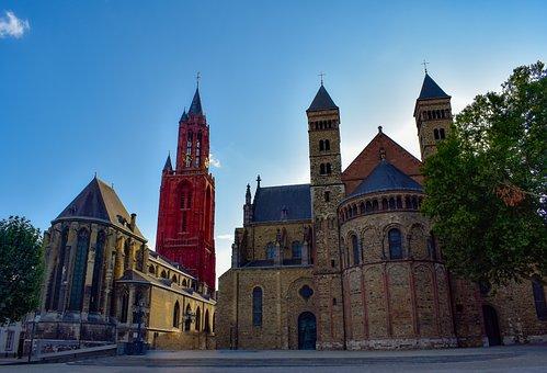 Maastricht, Square, Architecture, Basilica, Building
