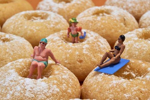 Miniature, Figure, Model, Biscuit, Swim, Pool