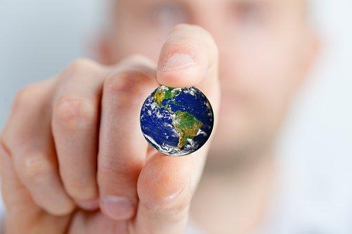 Globe, Fingers, Holding, Environment, Ecology