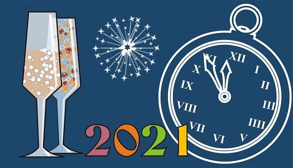New Year, Background, Graphic, 2021, Pf2021, La 2021