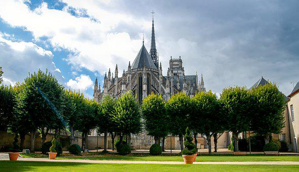 Bishopric Garden, Orléans Cathedral, Cathedral, Steeple