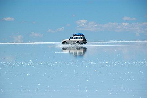 Salar De Uyuni, 4wd, Toyota, Salt, Bolivia, Uyuni