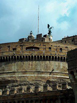 Rome, Castel S, Angel, Italy, Antiquity, Monument, Pope
