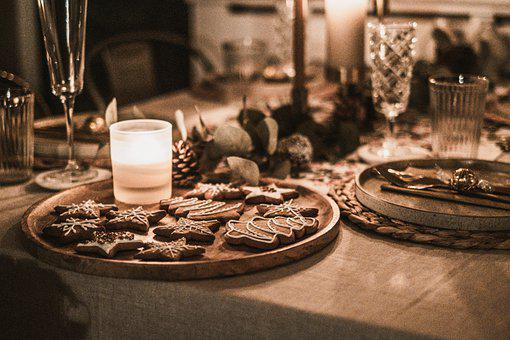 Cookies, Gingerbread, Christmas, Food, Baked, Pastry