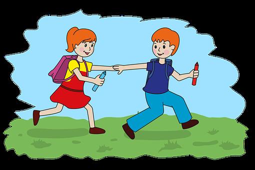 Schoolchildren, School, Apprentice, College, Schoolgirl