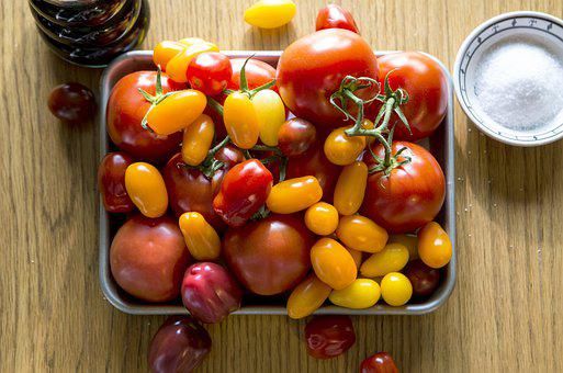 Tomatoes, Fresh, Vegetables, Tomato, Healthy, Salad