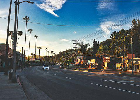 Road, Vehicles, Los Angeles, Traffic, Cars, Palm Trees