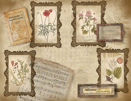 Scrapbook Paper, Grungy, Vintage, Texture, Paper