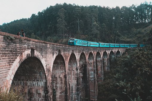 Nine Arch, Sri Lanka, Travel, Railway, Bridge, Asia